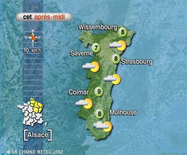 LES PREVISIONS METEO POUR STRASBOURG